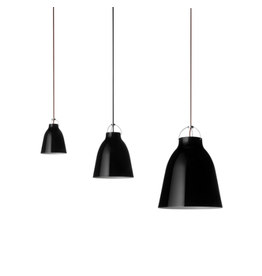 LIGHTYEARS CARAVAGGIO STEEL PENDANT LIGHT IN BLACK HIGH GLOSS LACQUER