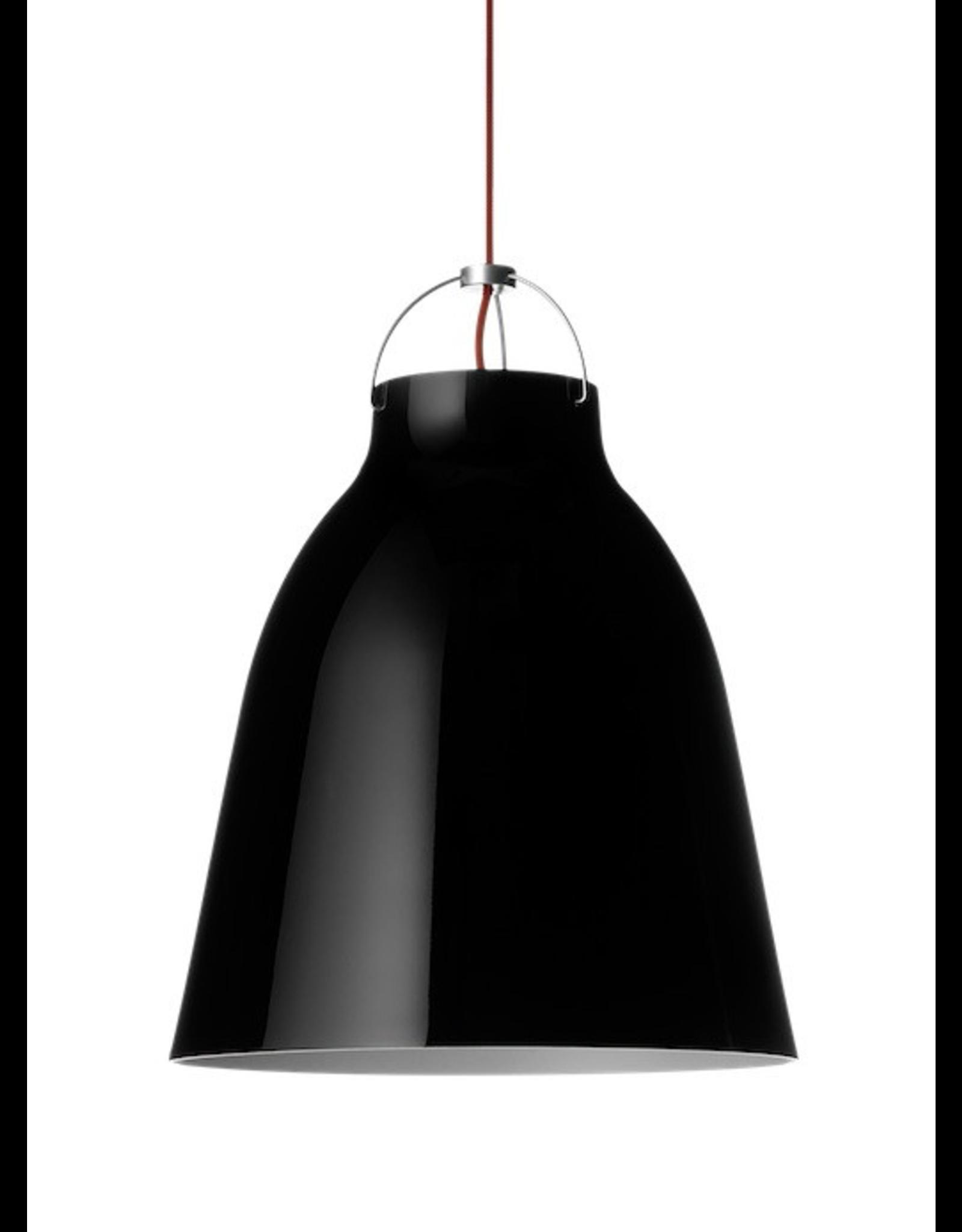 CARAVAGGIO STEEL PENDANT LIGHT IN BLACK HIGH GLOSS LACQUER