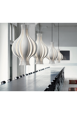 VERPAN ONION-SHAPED PENDANT LAMP IN WHITE