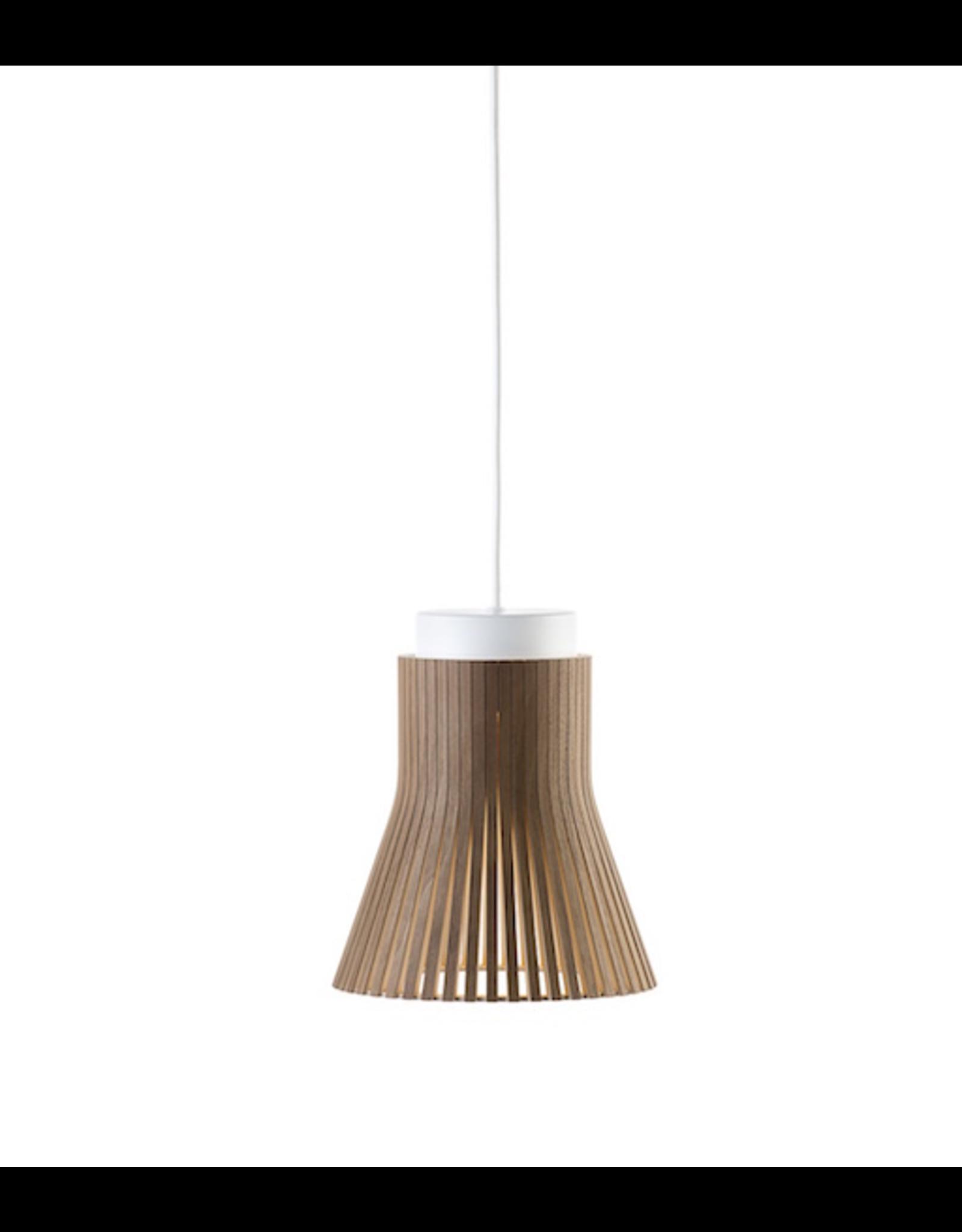 SECTO DESIGN 4600 PETITE PENDANT LAMP IN WALNUT VENEER