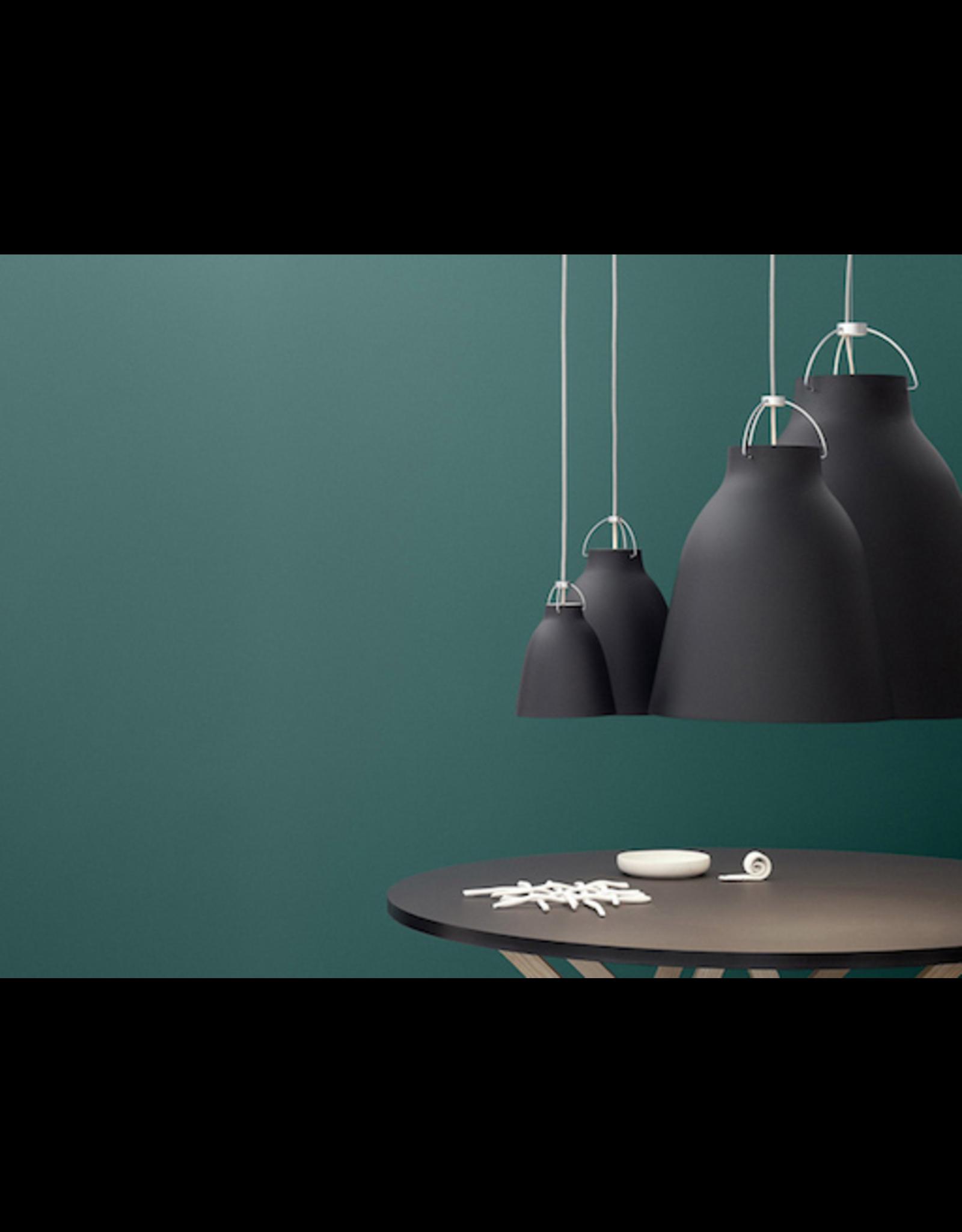 CARAVAGGIO PENDANT LIGHT IN BLACK MATT LACQUER