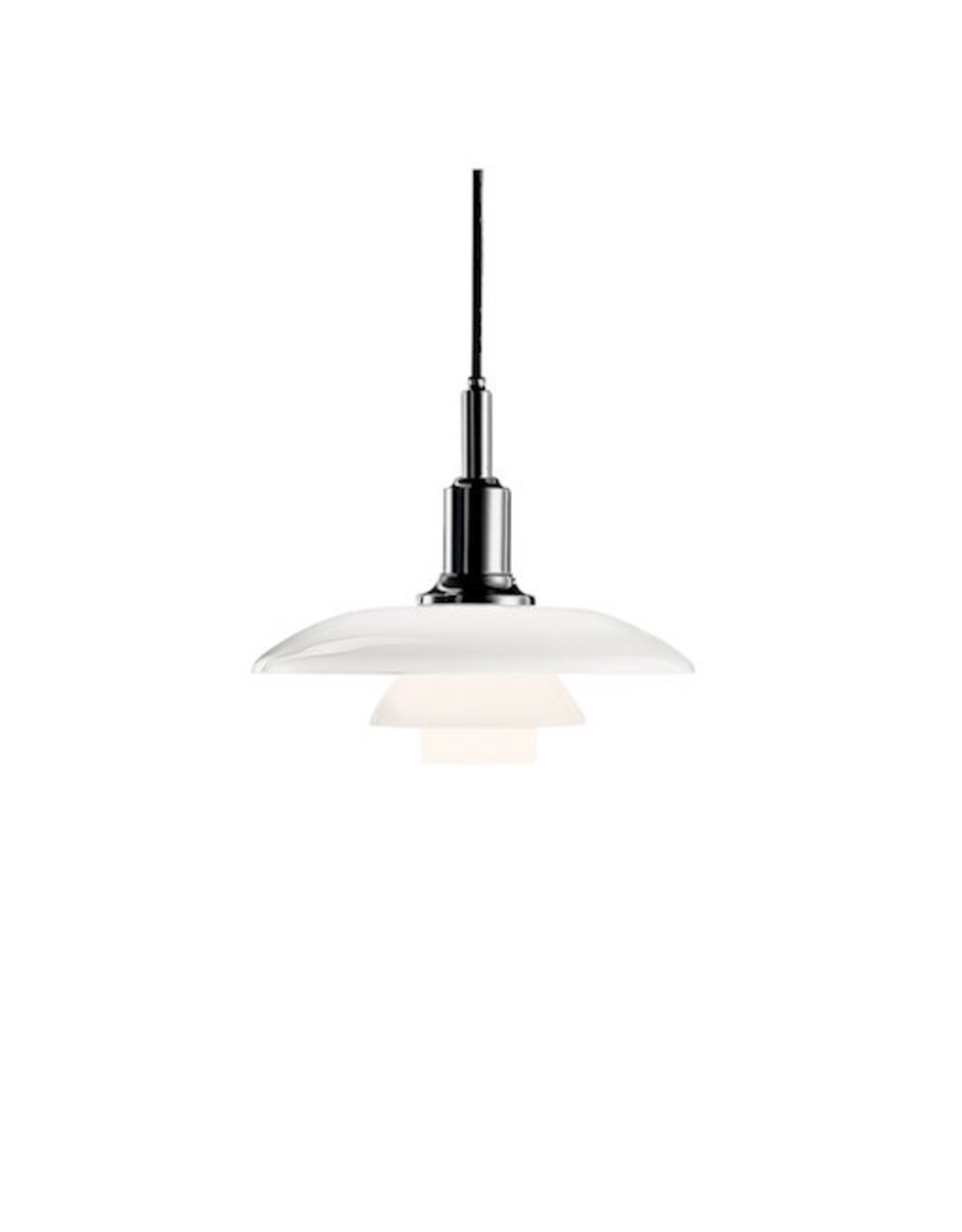 LOUIS POULSEN PH 3/2 PENDANT LAMP IN WHITE OPAL GLASS