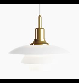 LOUIS POULSEN PH 3 1/2-3 GLASS PENDANT LAMP IN BRASS FINISH