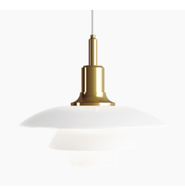 PH 3 1/2-3 GLASS PENDANT LAMP IN BRASS FINISH