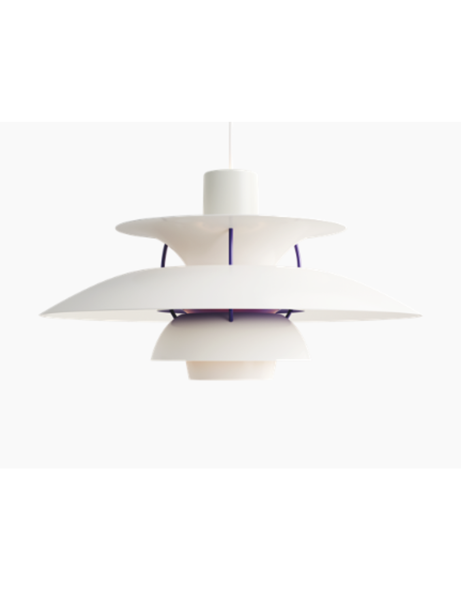 PH 5 CONTEMPORARY PENDANT LAMP IN CLASSIC WHITE