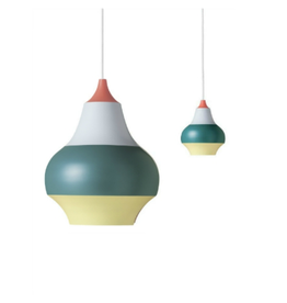LOUIS POULSEN CIRQUE PENDANT LAMP, TOP IN RED