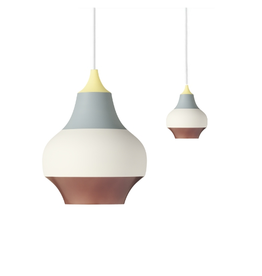 LOUIS POULSEN CIRQUE PENDANT LAMP, TOP IN WET PAINTED YELLOW