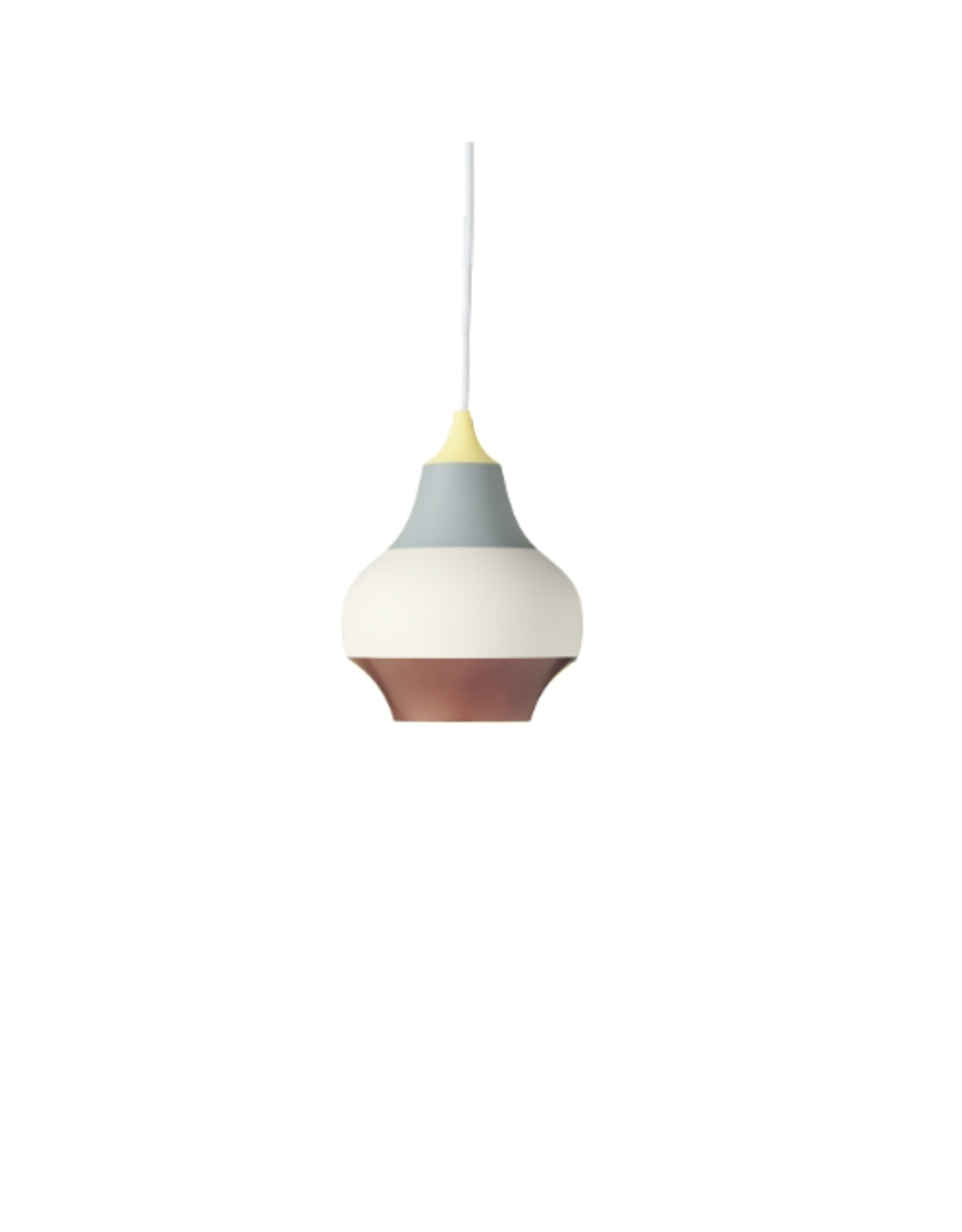 CIRQUE PENDANT LAMP, TOP IN WET PAINTED YELLOW