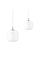 VL45 RADIOHUS 亮白色口吹玻璃吊燈