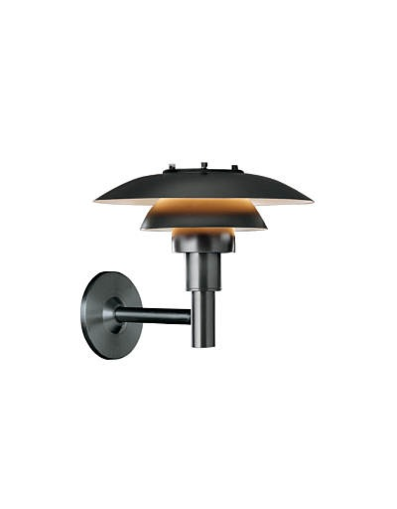 PH 3-2 1/2 OUTDOOR WALL LAMP, BLACK POWDER COATED