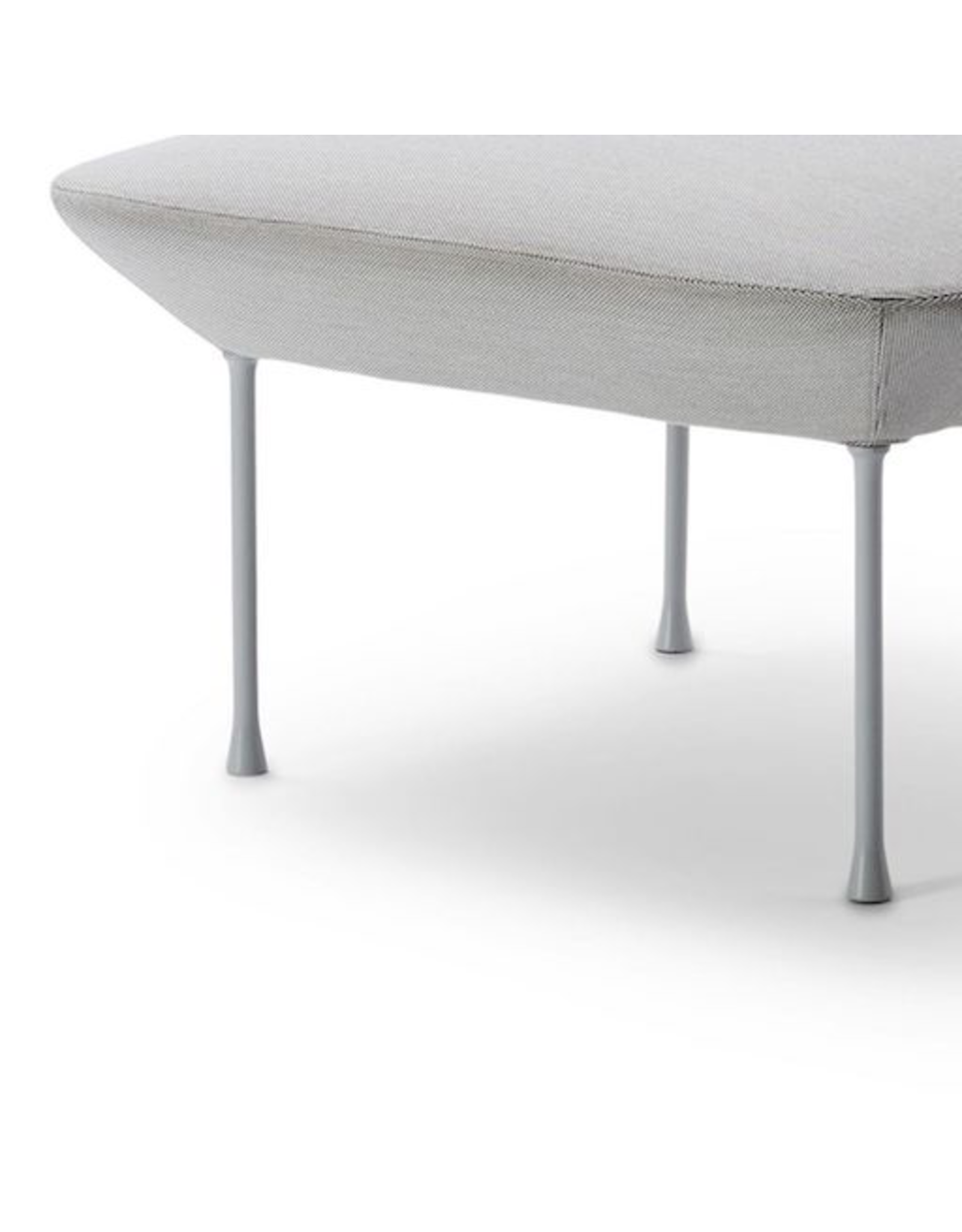 OSLO SOFA - BENCH UPHOLSTERED IN LIGHT GREY FABRIC