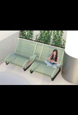 NOVA C RECLINER 2 SEATS BENCH