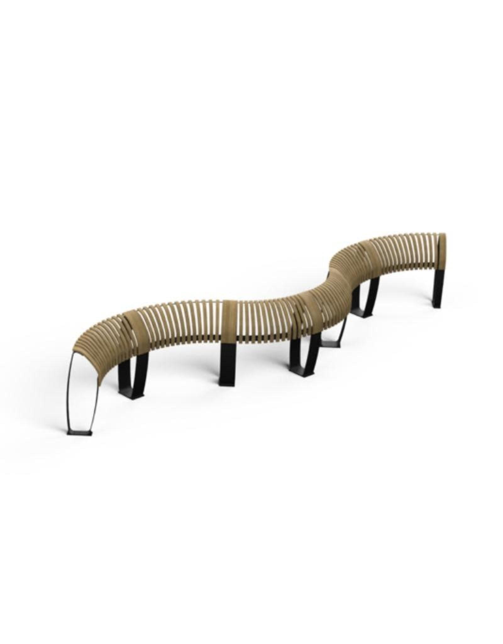 ONDULAR 波浪形戶外長凳