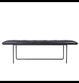WON DESIGN TIPTOE 黑色皮革长凳