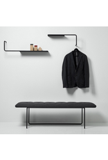 WON DESIGN TIPTOE LARGE BENCH IN BUTTERO BLACK LEATHER