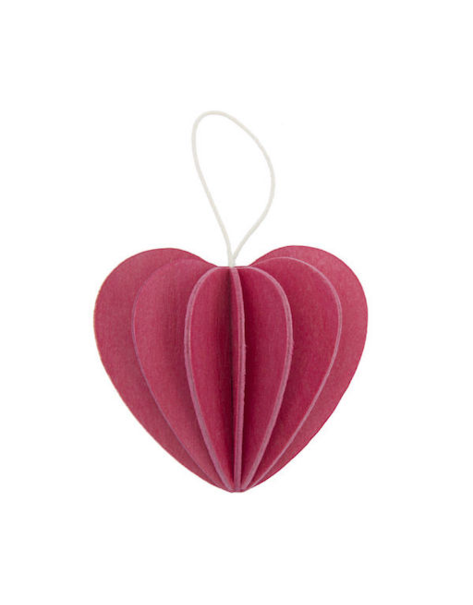 HEART SHAPED ORNAMENT IN PINK 7.3 CM