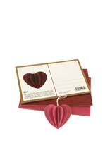 LOVI 粉紅色心型掛件裝飾 7.3 厘米