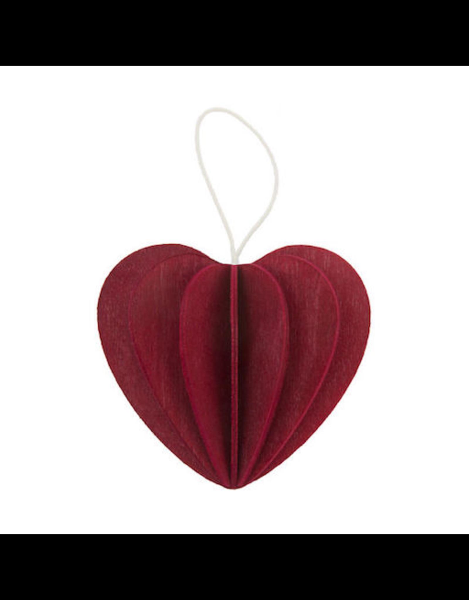 LOVI 深紅色心形掛件裝飾
