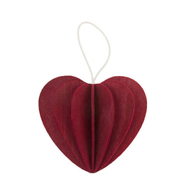 LOVI HEART SHAPED ORNAMENT IN DARK RED