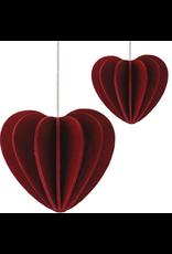LOVI HEART SHAPED ORNAMENT IN DARK RED