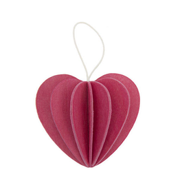 LOVI HEART SHAPED ORNAMENT IN PINK