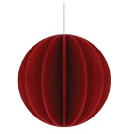 BALL SHAPED ORNAMENT IN DARK RED
