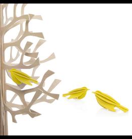 LOVI Lovi黄色迷你鸟形状装饰