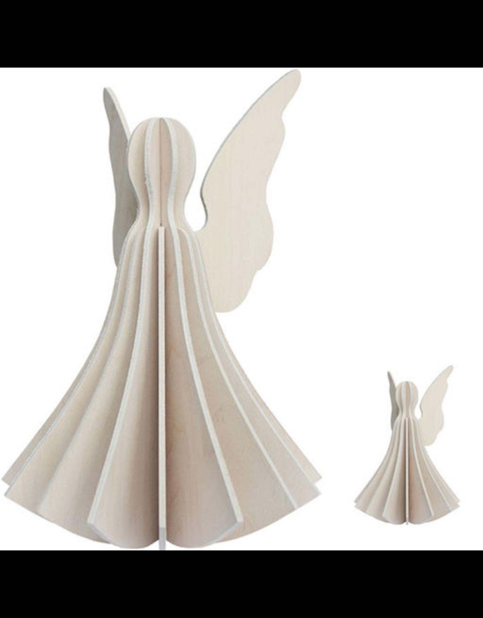 LOVI ANGEL SHAPED ORNAMENT IN WHITE