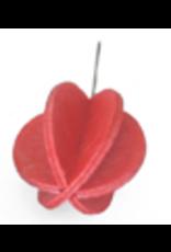 LOVI MINI BALL SHAPED ORNAMENT FOR LOVI TREE, BRIGHT RED FINNISH BIRCH, 1.7CM