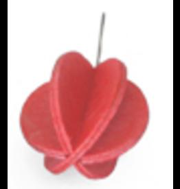 LOVI Lovi鲜红色迷你球形装饰