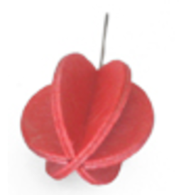 LOVI MINI BALL SHAPED ORNAMENT FOR LOVI TREE, BRIGHT RED FINNISH BIRCH, 1.7CM