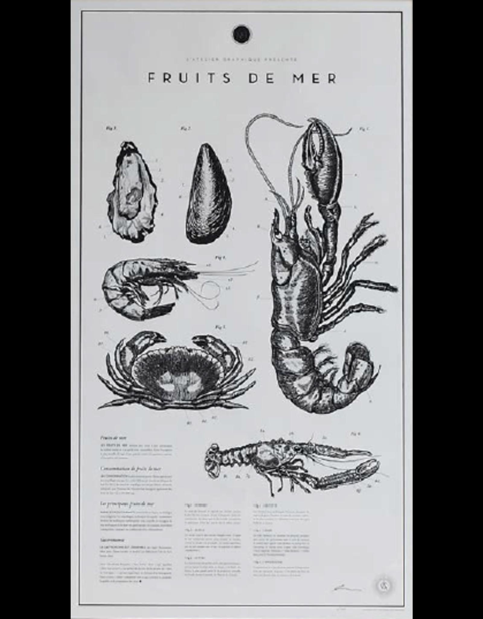 FRUITS DE MER LITHOGRAPHS PRINTS (UNFRAMED)
