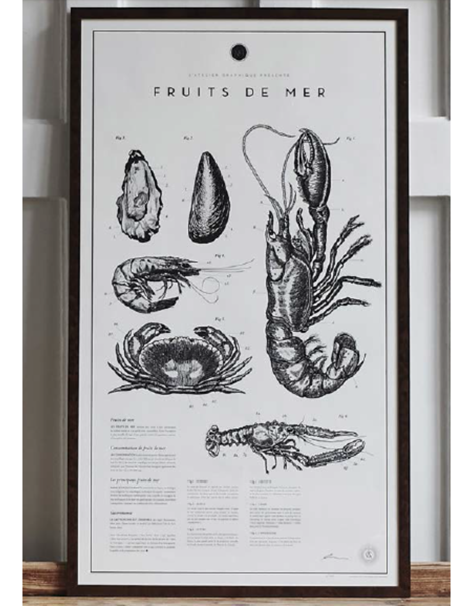 ATELIER GRAPHIQUE FRUITS DE MER FROM THE SPRING SUMMER COLLECTION 2016, FRAMED