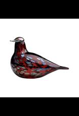 IITTALA BIRDS BY TOIKKA, RUBY BIRD CRANBERRY