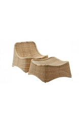 SIKA DESIGN CHILL LOUNGE CHAIR & FOOT STOOL