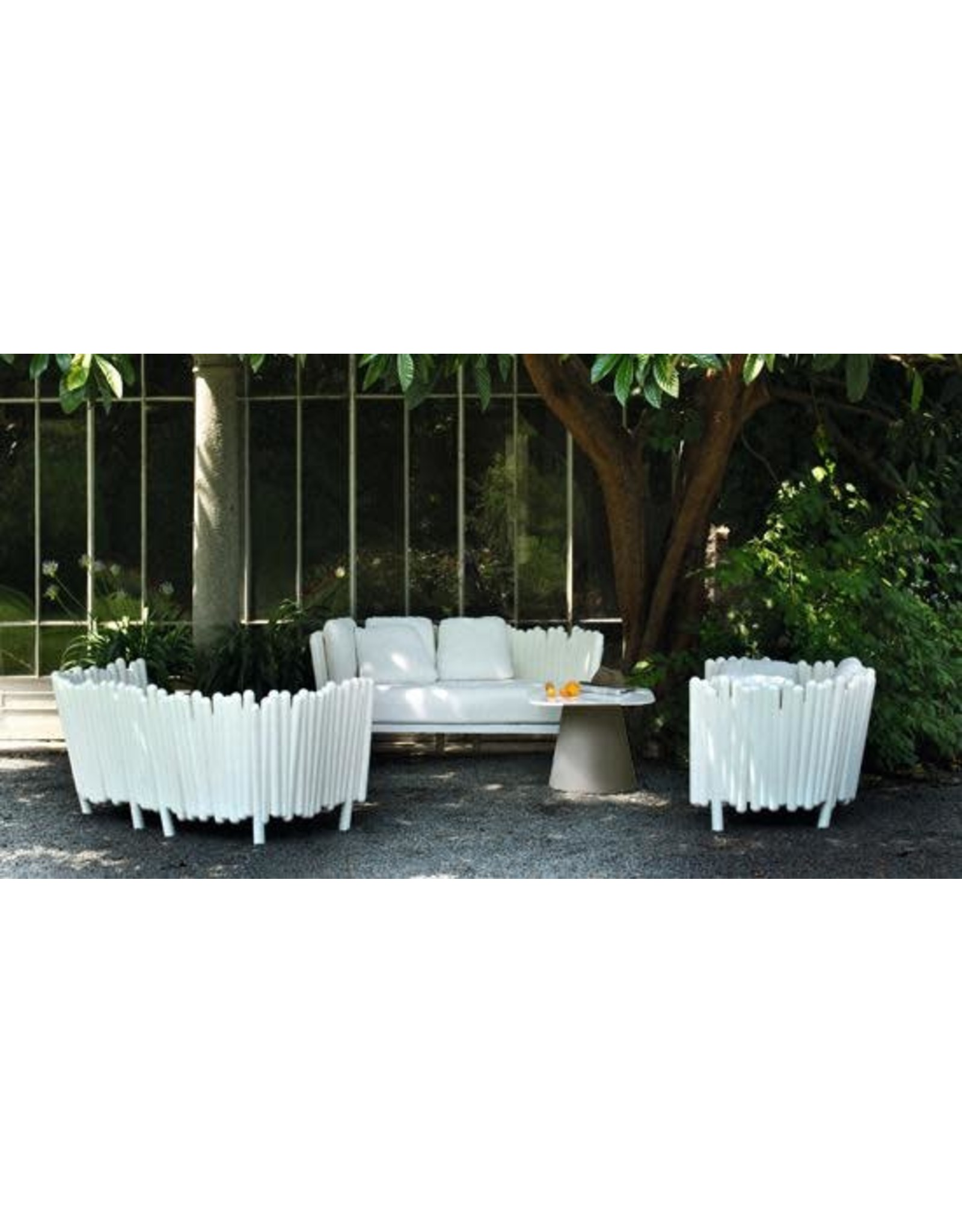 SERRALUNGA LOULOU50 SQUARE TABLE WITH WHITE LAMINATED TOP