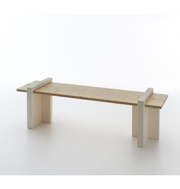 SERRALUNGA PLAY WOOD 户外用长凳, 枞木轴处理