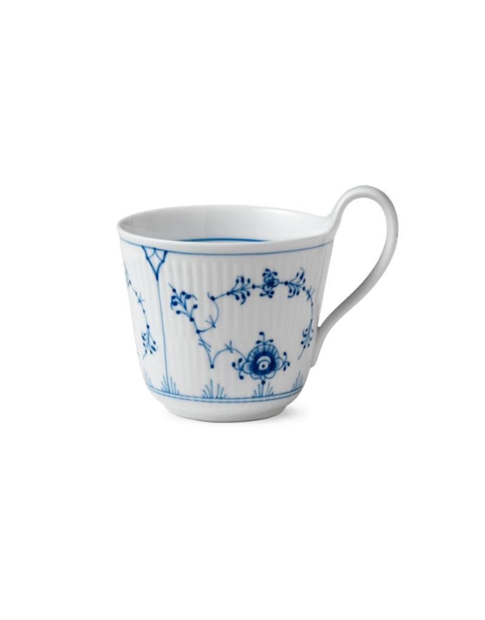 ROYAL COPENHAGEN BLUE FLUTED PLAIN HIGH HANDLE CUP, 33CL