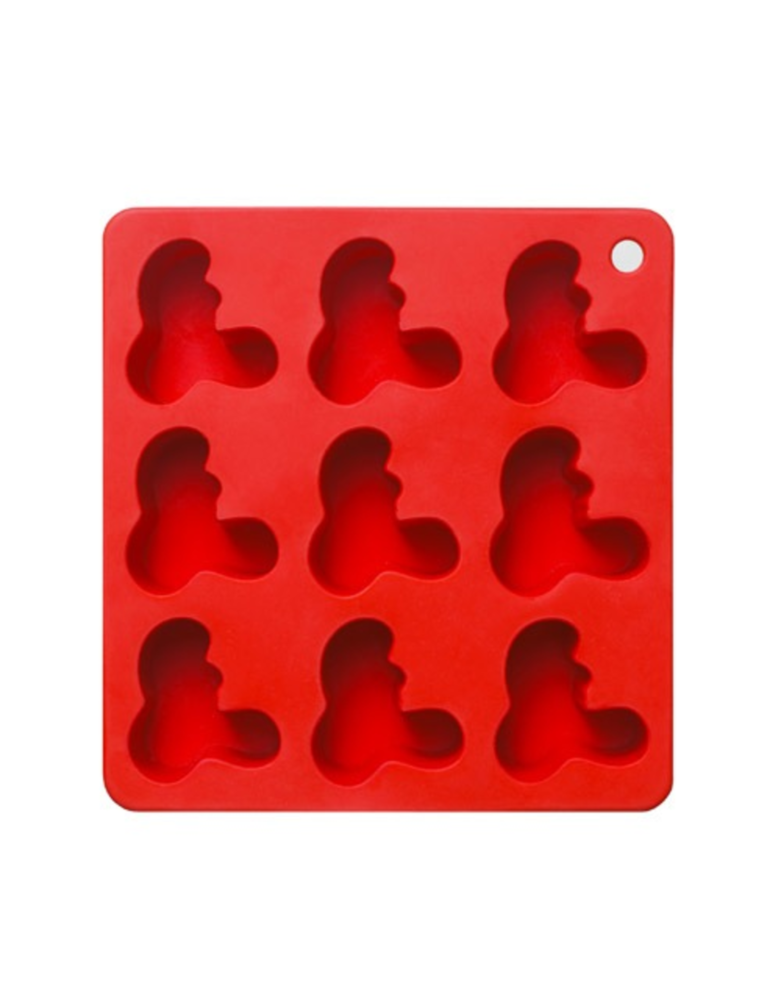 IITTALA AALTO ICE-CUBE MOLD, RED, 162 MM