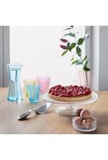 IITTALA KASTEHELMI CAKE STAND-LEAD FREE GLASS