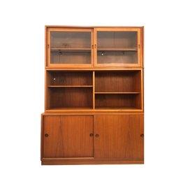 MANKS ANTIQUES 1950's ORESUND 帶滑動櫃門柚木古董櫃