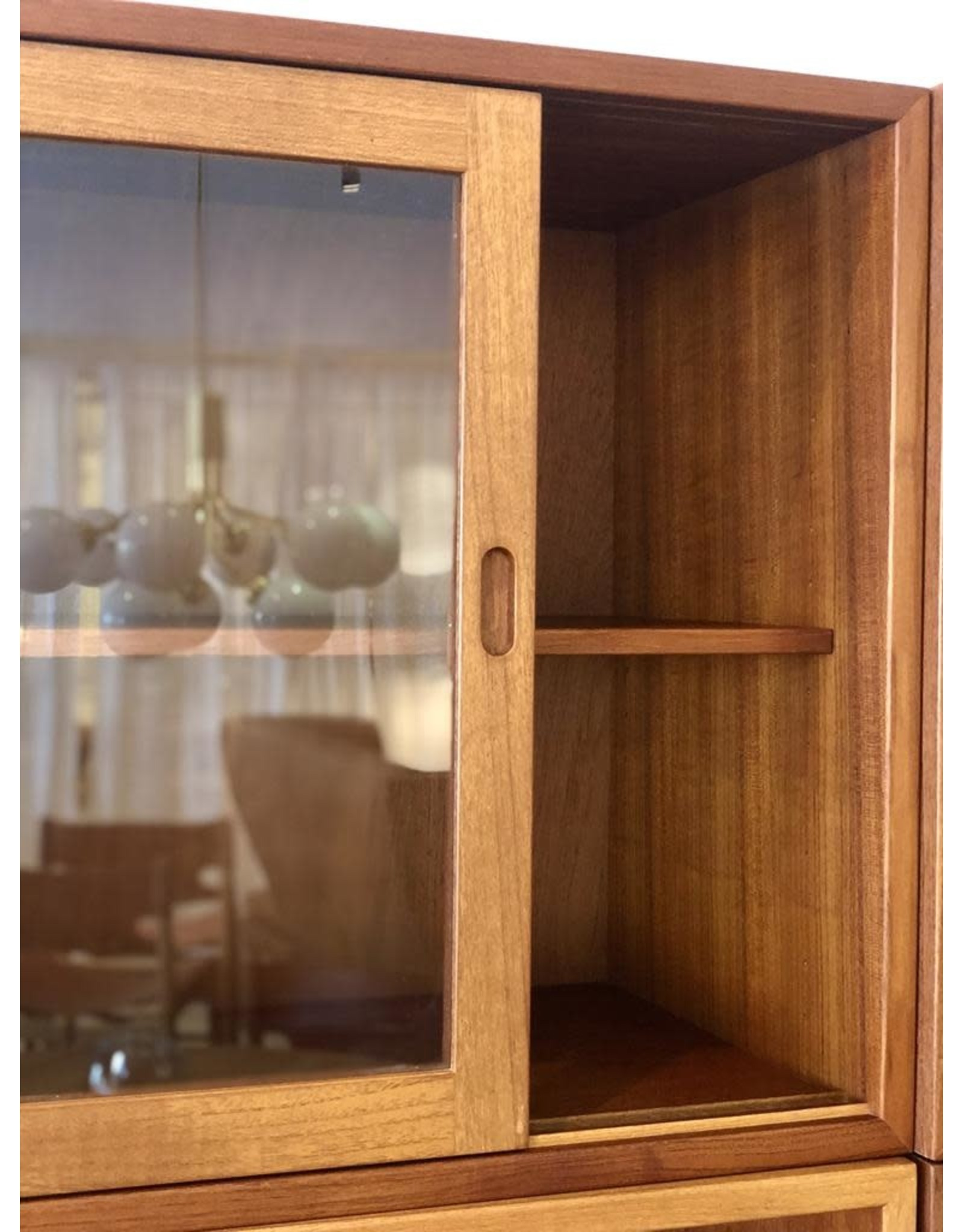 MANKS ANTIQUES 1950's ORESUND TEAK CABINET WITH SLIDING DOORS