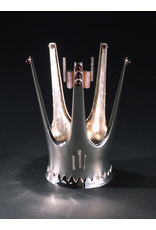 FIVE-PRONGED SILVER BRIDAL CROWN