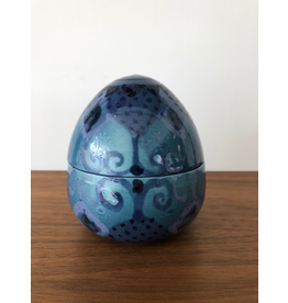 MANKS ANTIQUES 1960's 蛋形有蓋陶瓷