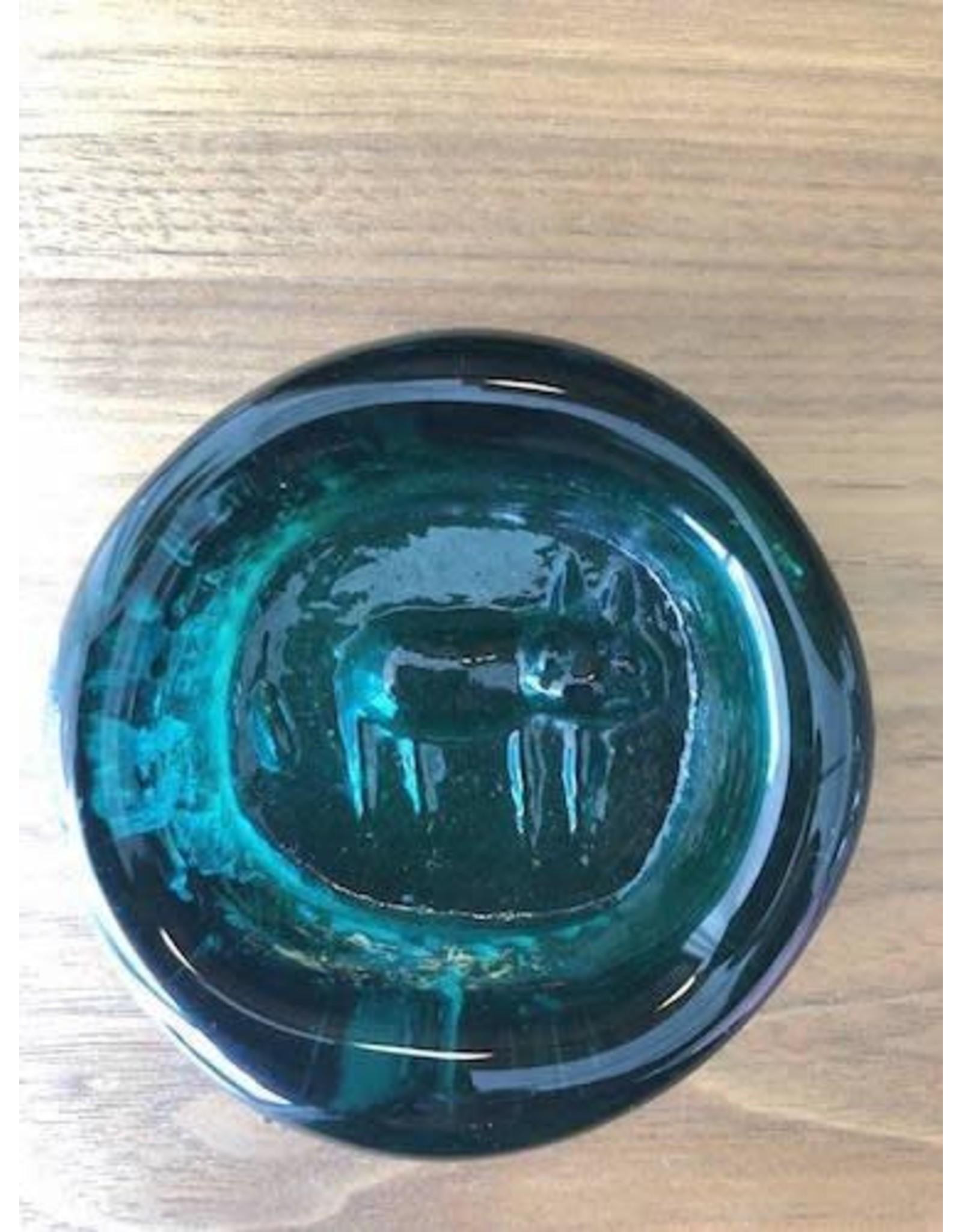 MANKS ANTIQUES HOGLUND AQUA GLASS PAPERWEIGHTS