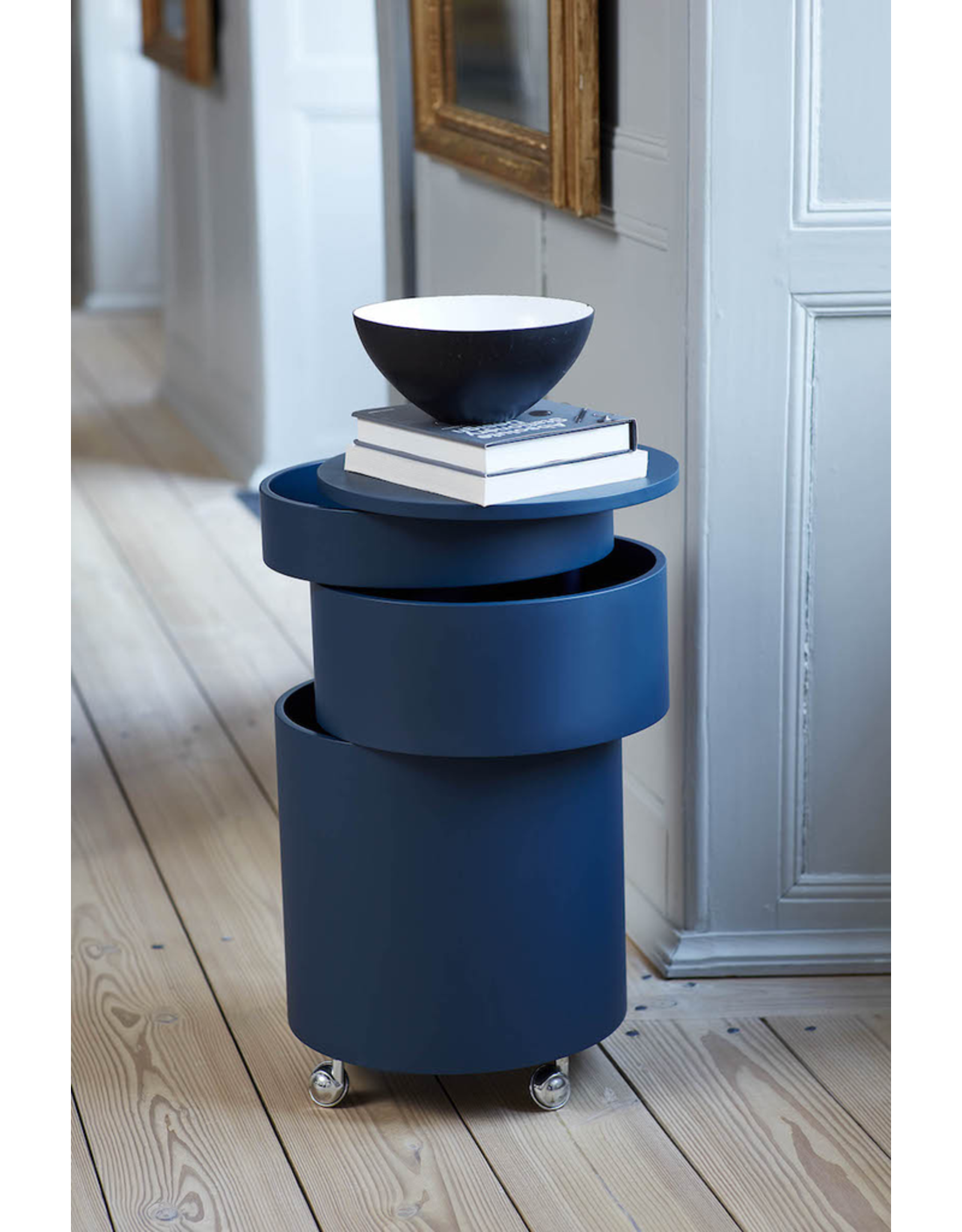 BARBOY CYLINDRICAL BAR CABINET IN BLUE