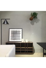 KILT 開放式儲物櫃, P4黑色胡桃橡木