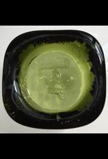 GREEN GLASS VIKING ICON BY EIRK HOGLUND FOR BODA SWEDEN, W7 X L7 X D2CM