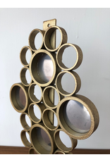 1960's MIRRORED BRASS CANDLE WALL SCONCE