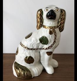 MANKS ANTIQUES STAFFORDSHIRE 斯塔福德郡国王查尔斯猎犬陶器